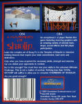 Chambers of Shaolin Commodore 64 Back Cover