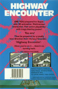 Highway Encounter Commodore 64 Back Cover