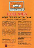 Planet Miners Apple II Back Cover