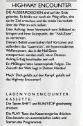 Highway Encounter Commodore 64 Other German Instructions
