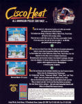 Cisco Heat: All American Police Car Race Commodore 64 Back Cover