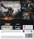 Darksiders PlayStation 3 Back Cover
