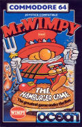 Mr. Wimpy: The Hamburger Game Commodore 64 Front Cover