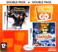Double Pack: Disney on the Go - Disney Pirates of the Caribbean: At World's End / The Chronicles of Narnia: The Lion, the Witch and the Wardrobe Nintendo DS Front Cover