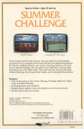 Summer Challenge Commodore 64 Back Cover