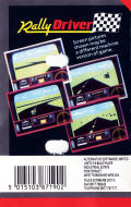 Rally Driver Commodore 64 Back Cover