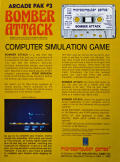 Bomber Attack Apple II Back Cover