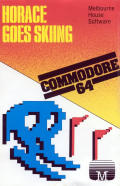 Horace Goes Skiing Commodore 64 Front Cover
