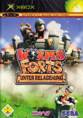 Worms Forts: Under Siege Xbox Front Cover