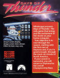 Days of Thunder Commodore 64 Back Cover