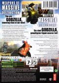 Godzilla: Save the Earth Xbox Back Cover