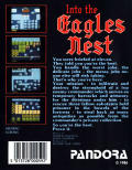 Into the Eagle's Nest Commodore 64 Back Cover
