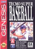 Tecmo Super Baseball Genesis Front Cover