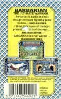 Death Sword ZX Spectrum Back Cover