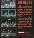 Sol Negro DOS Back Cover
