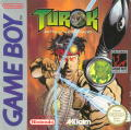 Turok: Battle of the Bionosaurs Game Boy Front Cover