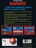 World Karate Championship Atari 8-bit Back Cover
