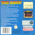 Space Invaders Game Boy Back Cover