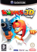 Worms 3D GameCube Front Cover