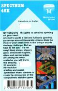 Gyroscope ZX Spectrum Back Cover