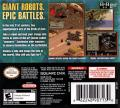 Front Mission Nintendo DS Back Cover