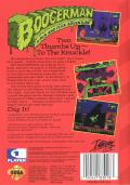 Boogerman: A Pick and Flick Adventure Genesis Back Cover