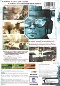 Tom Clancy's Ghost Recon: Advanced Warfighter Xbox Back Cover