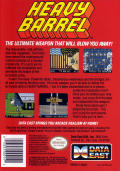 Heavy Barrel NES Back Cover