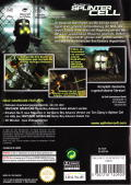 Tom Clancy's Splinter Cell GameCube Back Cover