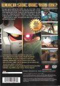 Mobile Suit Gundam: Federation vs. Zeon PlayStation 2 Back Cover