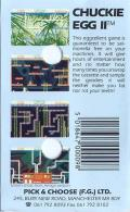 Chuckie Egg II ZX Spectrum Back Cover