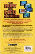The Hunt for Red October Commodore 64 Back Cover