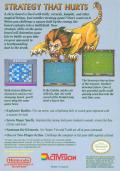Archon: The Light and the Dark NES Back Cover
