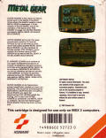 Metal Gear MSX Back Cover