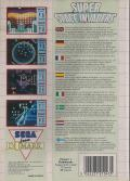 Taito's Super Space Invaders SEGA Master System Back Cover