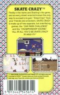 Skate Crazy ZX Spectrum Back Cover
