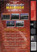 Championship Manager: Season 01/02 Windows Back Cover