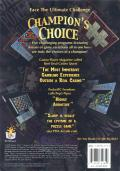 Champion's Choice Palm OS Back Cover