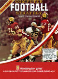 Computer Football Strategy Atari 8-bit Front Cover