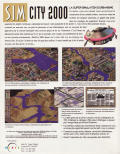 SimCity 2000: Includes Scenarios Volume 1 Great Disasters DOS Back Cover