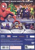 Spider-Man: Friend or Foe PlayStation 2 Back Cover