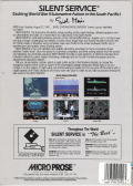 Silent Service DOS Back Cover