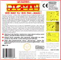Pac-Man Game Boy Back Cover