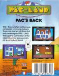 Pac-Land Commodore 64 Back Cover
