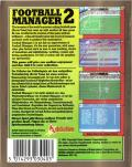 Football Manager 2 Commodore 64 Back Cover