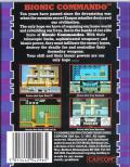 Bionic Commando Commodore 64 Back Cover