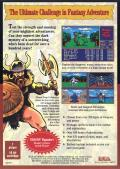 Might and Magic II: Gates to Another World Genesis Back Cover