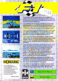 Formula One Game Gear Back Cover