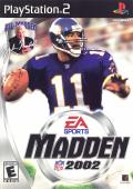 Madden NFL 2002 PlayStation 2 Front Cover