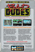 Bad Dudes DOS Back Cover